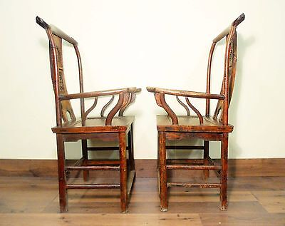 Antique Chinese High Back Arm Chairs (5637) (Pair), Circa 1800-1849 10
