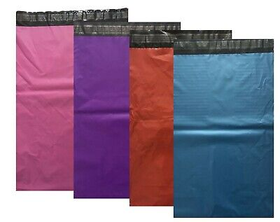 Coloured Mailing Bags Plastic Poly Postage Postal Envelopes - All Sizes Colours 2