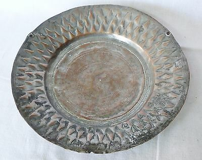 Antique COPPER Metal Dish Tray Soldier Army Serving – Goth Medieval 1700s, Greek 9