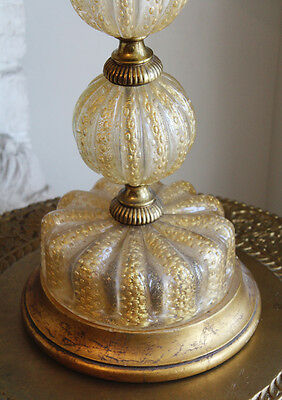 Antique Rare Barovier & Toso Murano Glass Lamp w/Shade Control Bubbles 3