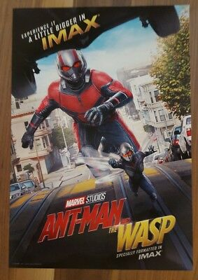 """Marvel Studios ANT-MAN AND THE WASP Official Movie 13"""" x 19""""  IMAX Poster-HTF 6"""