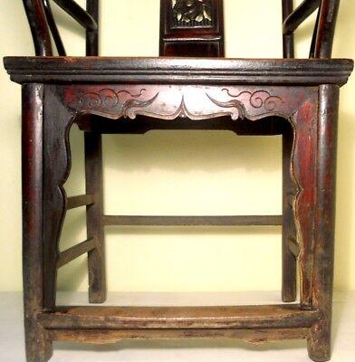 Antique Chinese High Back Arm Chairs (2787)(Pair), Circa 1800-1849 5