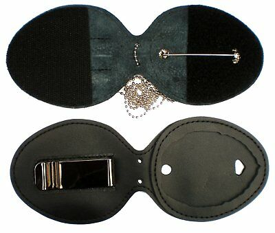 BADGE HOLDER ONLY! + Neck Chain FOR GOLD CONCEALED CARRY PERMIT CCW/CWP BADGE 2