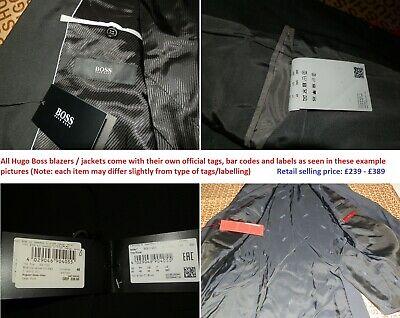 New Hugo Boss black striped designer suit coat jacket blazer 40R 50 Large £289 11