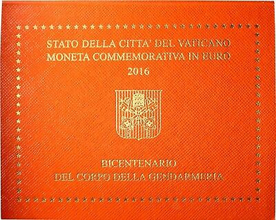 Vatikan 2 Euro 2016 Gendarmeriekorps der Vatikanstadt Stempelglanz im Folder 4