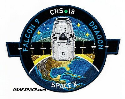 NEW CRS-18 - SPACEX ORIGINAL FALCON-9 DRAGON F-9 ISS NASA RESUPPLY Mission PATCH 3