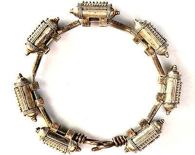 Antique .800 Silver Handmade 7 Capsules Filigree Bedouin Bracelet 2