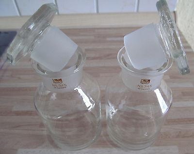 2 Stück Assistent Glas Gläser NS 34,5 W.Germany Normschliff 2