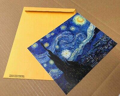 Starry Night Van Gogh Art Print Canvas Small Wall Decor Painting Print 8x10 2