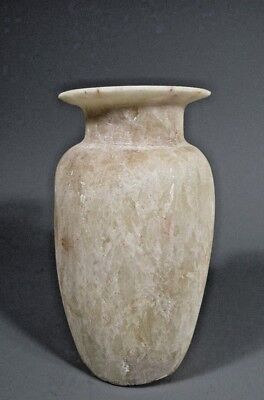 Fine Grand Tour Egypt Egyptian Provincial STYLE Carved Alabaster Vessel 19-20th 5