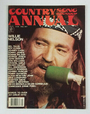Country Song Roundup Annual Vtg Magazine Fall 1977 Willie Nelson No Label EX 2