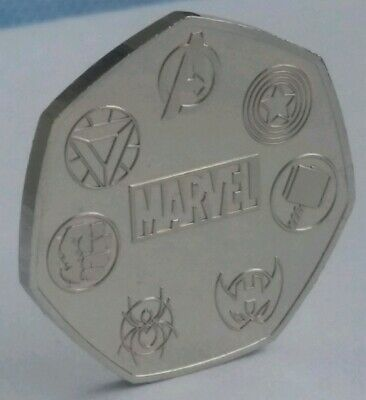 UNOFFICIAL MARVEL RARE 50p Coin Pence Shape Custom Made Solid Token Stan Lee