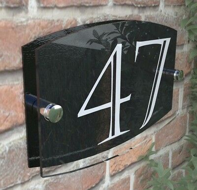Contemporary House Sign Plaque Door Number 1 - 999 Personalised Name Plates 5