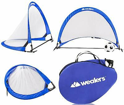 Soccer Ball Goal Pop Up Nets Kit Set Reflective Light and Portable Youth 6 Ft.