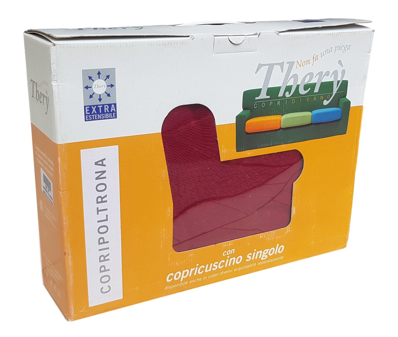THERY. Copripoltrona + copricuscino singolo in tessuto EXTRA estensibile. 3