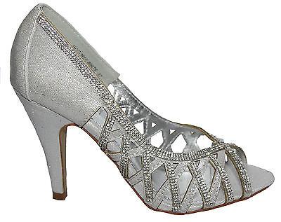 Heiress-22r Fabulicious Damen High Heels Peep Toe Pumps Glitzersteinchen Gr35-42