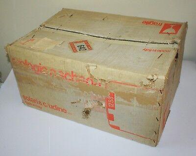 Vintage 1976 Fratelli Solari Udine Flap Clock Time Recorder New In Original Box 11