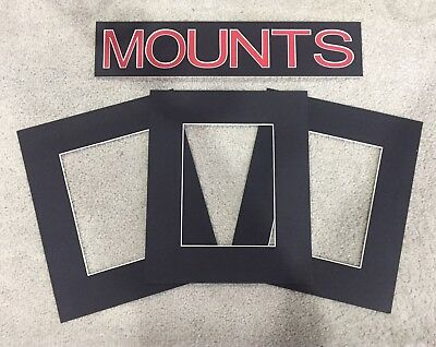 Pack of 10 Photo , Picture Mount , Frame Mounts - Various Sizes - Black 2