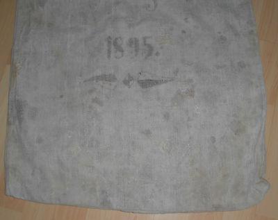 Leinensack korn leinen sack alt Getreidesack dat.1895 antik top nostalgie deko 3