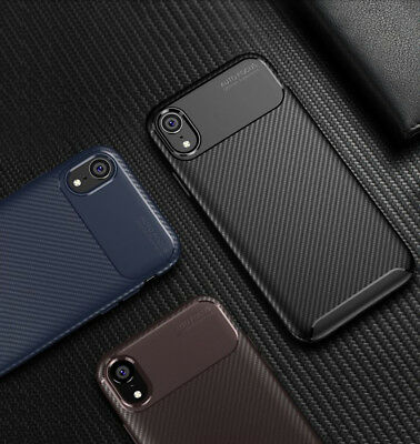 Case for iPhone Carbon Fibre Soft Cover TPU Silicone Slim X XR XS Max 8 7 6 Plus 2