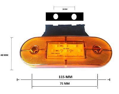 Set 8 Luci Ingombro 24V Luci 9 LED Posteriore Arancio Ingombro & Staffe 2