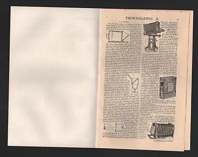 Lithografie 1906: Fotografie Photographie I/II. fotografische Verfahren Aufnahme 2