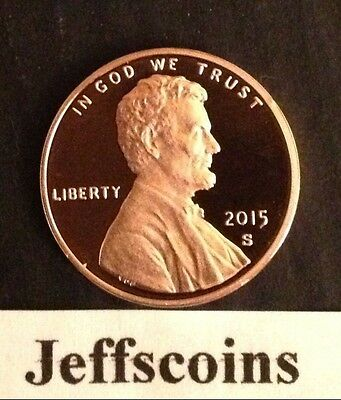 2015 & 2016 S Lincoln Shield Cent Proof Deep Cameo 1¢ New Penny via US Mint Set 2