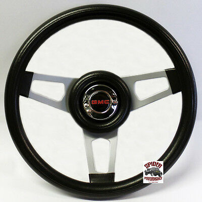 "1960-1969 GMC Pickup steering wheel 13 3//4/"" BLACK SPOKE steering wheel"