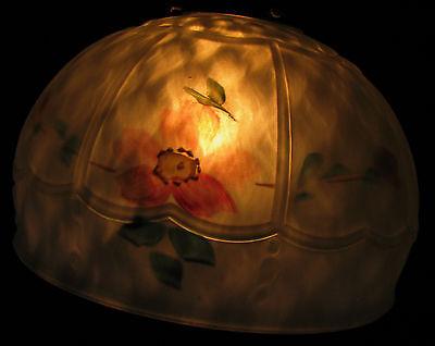 Art Deco Antique Pendant Swag Glass Shade Slip Ceiling Light Fixture Chandelier 3