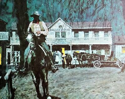 """DONALD TEAGUE  LE  /""""NEW GIRL IN TOWN/""""  1983  COWBOY ARTISTS AMERICA  MINT SIGNED"""