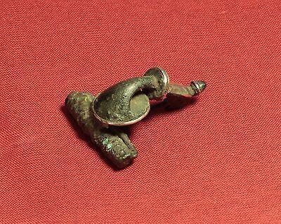 Ancient Roman Fibula with Silver Inlay, Rare! 3. Century 3
