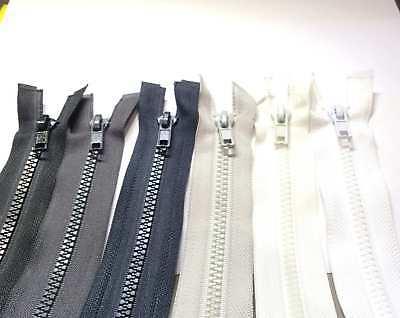Cerniera chiusura lampo zip zipper plastica 5mm divisibile singolo cursore