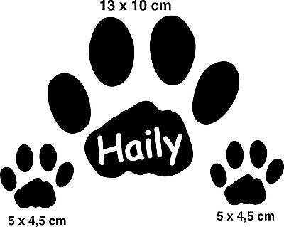 Pfoten Set Tatzen Autoaufkleber Aufkleber Sticker Pfoten Tatzen Hund Katze