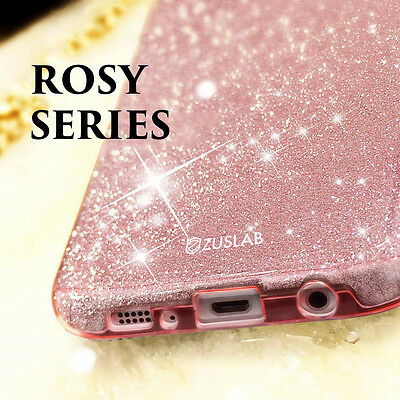 For Samsung Galaxy S9 Note 8 S8 S8 Plus Case Genuine Zuslab Rosy Sparkle Cover 6