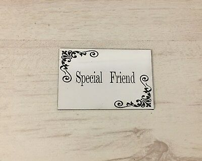 Bench Memorial family Engraved,Personalised marble effect Plaque