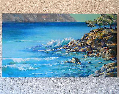 Sea Gift Ideas Oil Painting Modern Wall Art Interior Design Original Home Style 1 799 00 Picclick