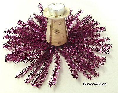 Weihnachtsdeko Lila.Weihnachtsdeko Lila Pink Draht Mit Lametta Tischdeko Basteln Deko Weihnachten