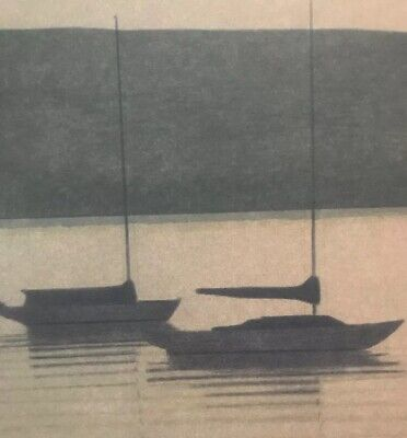 RUSSELL CHATHAM, Original lithograph, Still Evening at Tomales Bay, S/N/D 3