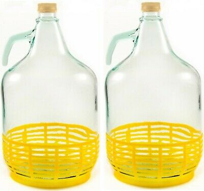 2 Stück 5L Gärballon Flasche Glasballon Weinballon Glasflasche Wein machen 4