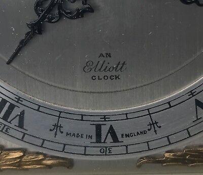 ELLIOTT LONDON Walnut & Burr Walnut Bracket Mantel Clock RUSSELLS LTD 12