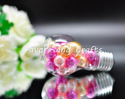 12 Fillable Plastic Light Bulbs Clear Wedding Favors Baby Shower