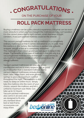 New Economy Memory Foam Orthopedic Mattress 3Ft Single 2 Way Stretch Fabric 5