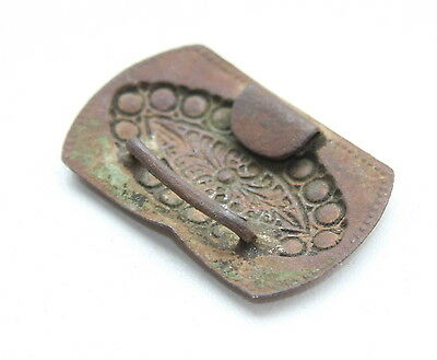 Antique Old Ornament Brass Belt Buckle (MAR)