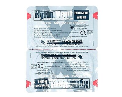 North American Rescue Hyfin Vent Chest Seal Twin Pack New - Exp 2022 & 2023 8