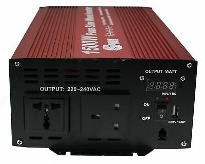 //1500W DC12V INTELLINGENT PURE SINE WAVE POWER INVERTER lcd display 3000W Peak