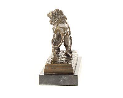 Charles Valton 1851-1918 Skulptur Schreitender Löwe Bronze