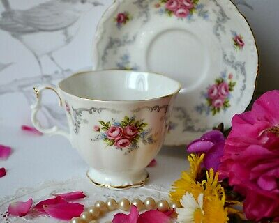 Vintage Royal Albert England TRANQUILITY Tea Cup Teacup Saucer Set, bone china 5