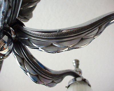 Art Deco Chandelier - Vintage - Chrome Finish 4