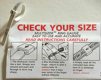 check your Size Ring Sizer to Measure your Finger Size - Ring Size Measurement 4