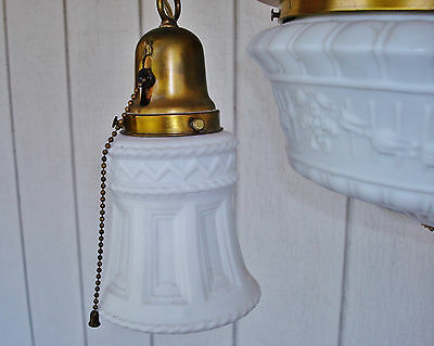 Salvaged Elegant Antique Colonial Revival 4 Bulbs Ceiling Lamp Chandelier 8